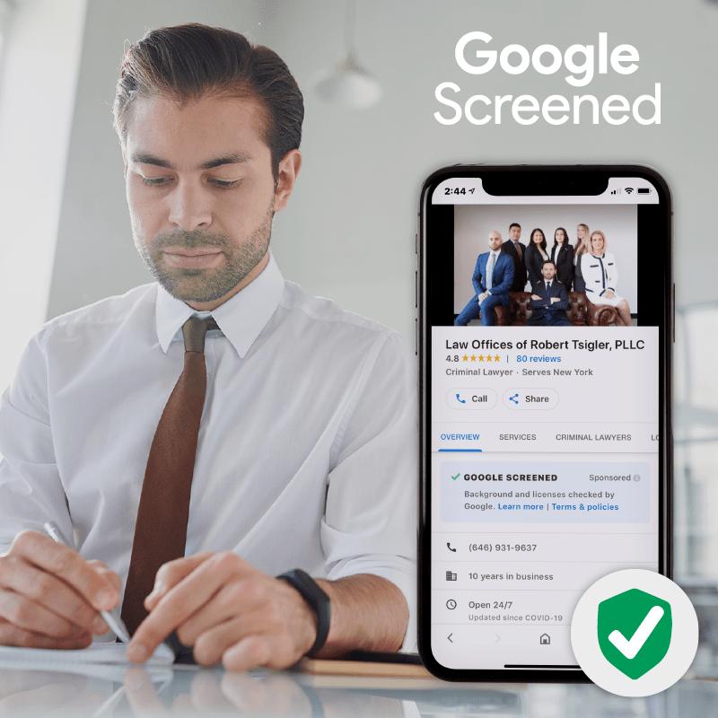 Google Screened Law