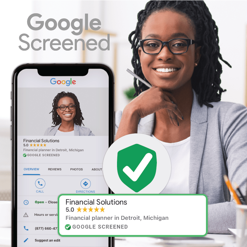 Google Screened Financial Planner